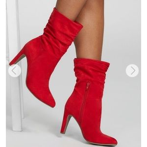 Red heeled boots